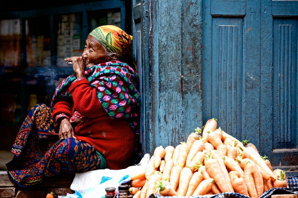 Photograph Nepal,Smoking woman by Kenny Ao on 500px