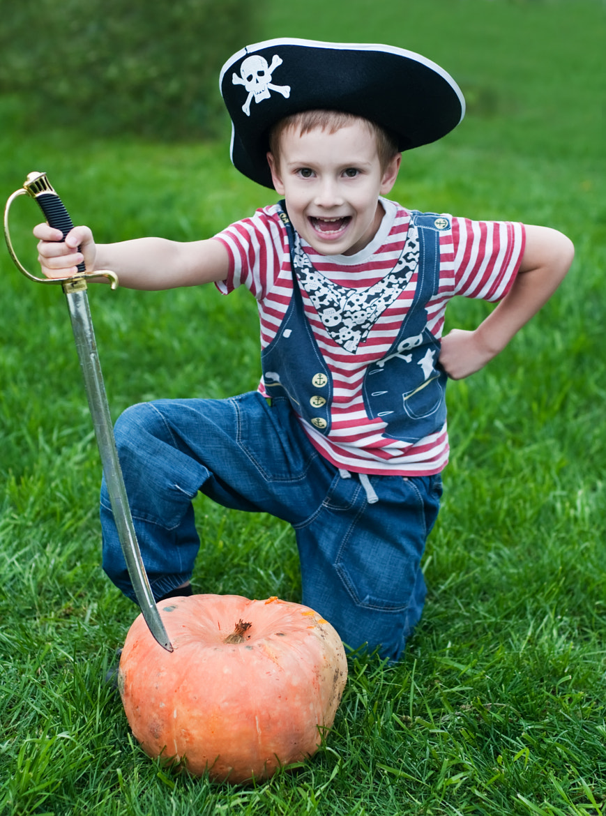 Photograph pirate-boy and halloween pumpkin by Yulia Kuznetsova on 500px