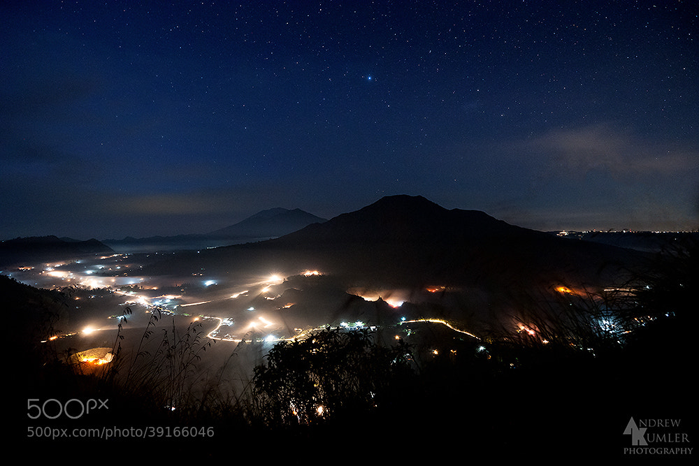 Photograph Mount Batur under the Stars... by Andrew Kumler on 500px