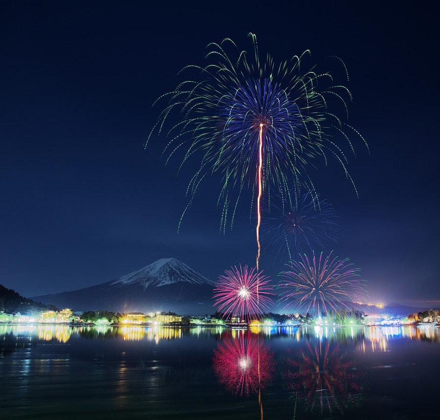 My Favorite Mt.Fuji & fireworks cover image