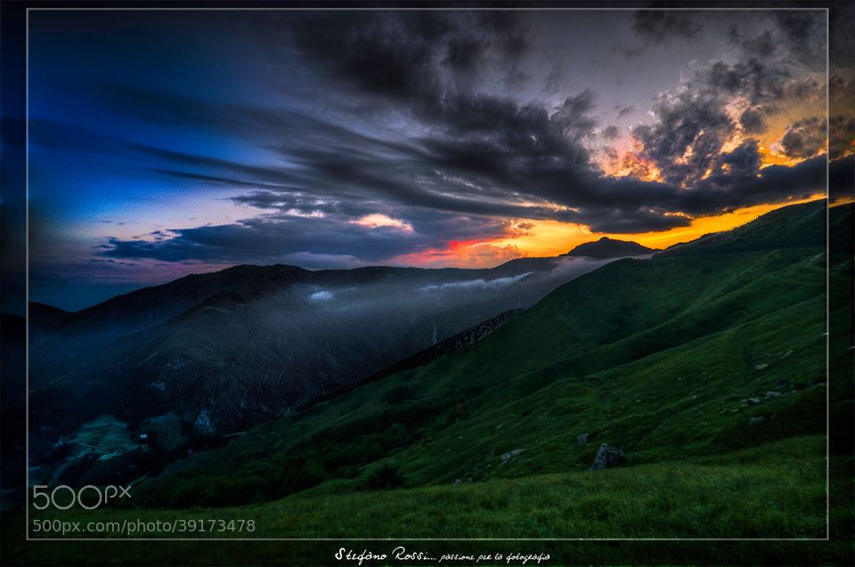 Photograph Sunset on the Faiallo mount by Stefano Rossi on 500px