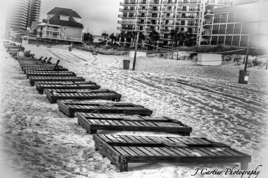 Photograph Beach Recliners by Jerome Cartier on 500px