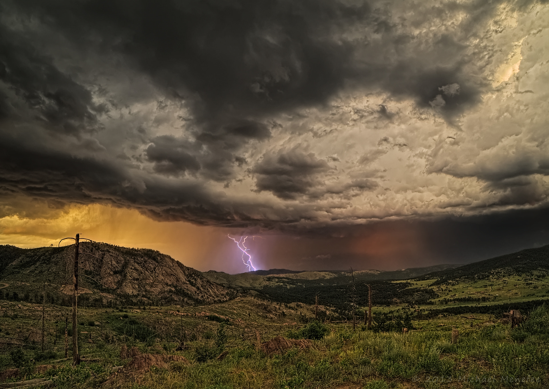 Photograph Storm Mountain Tempest by Michael Menefee on 500px