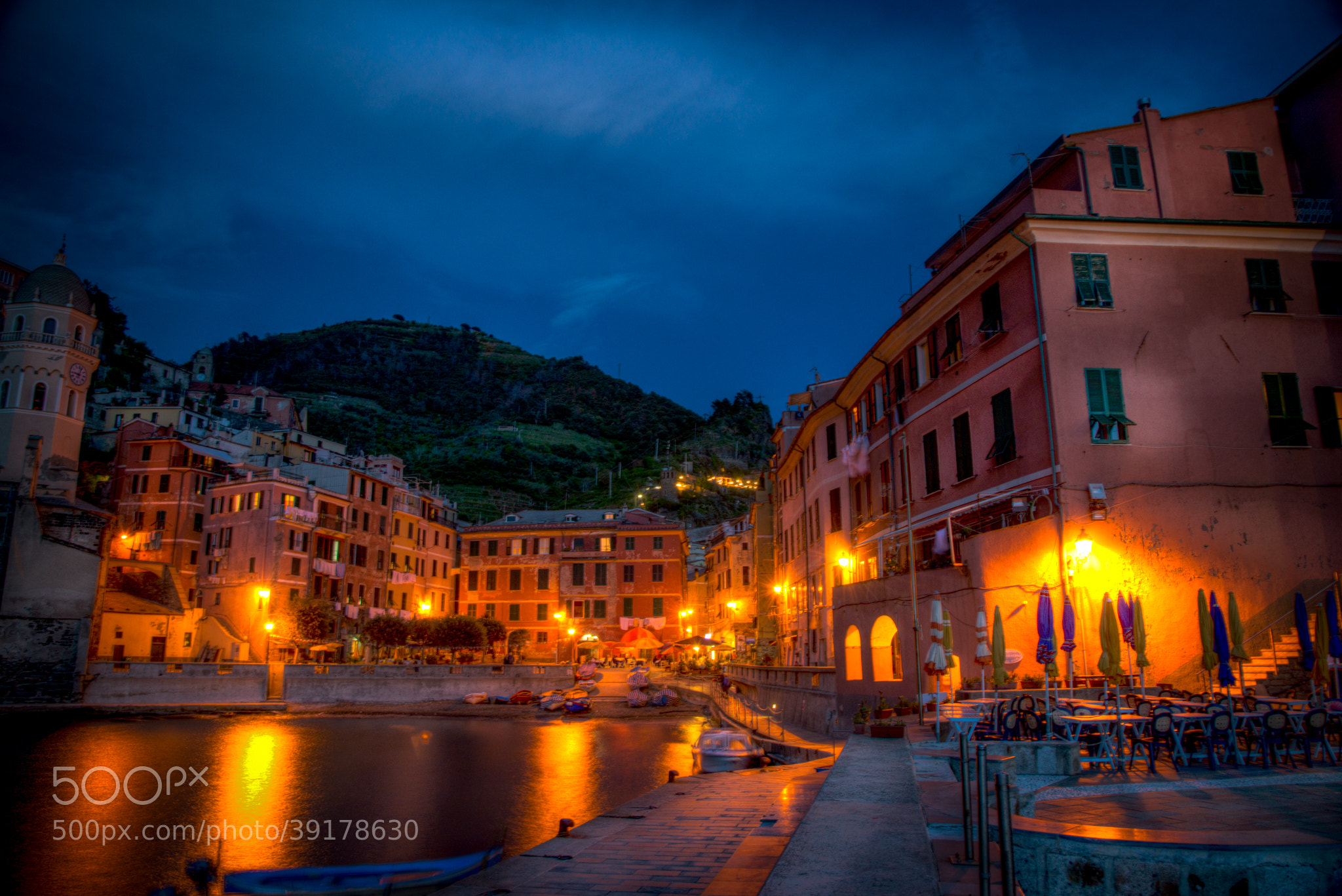 Photograph Vernazza at night by Stephen Album on 500px