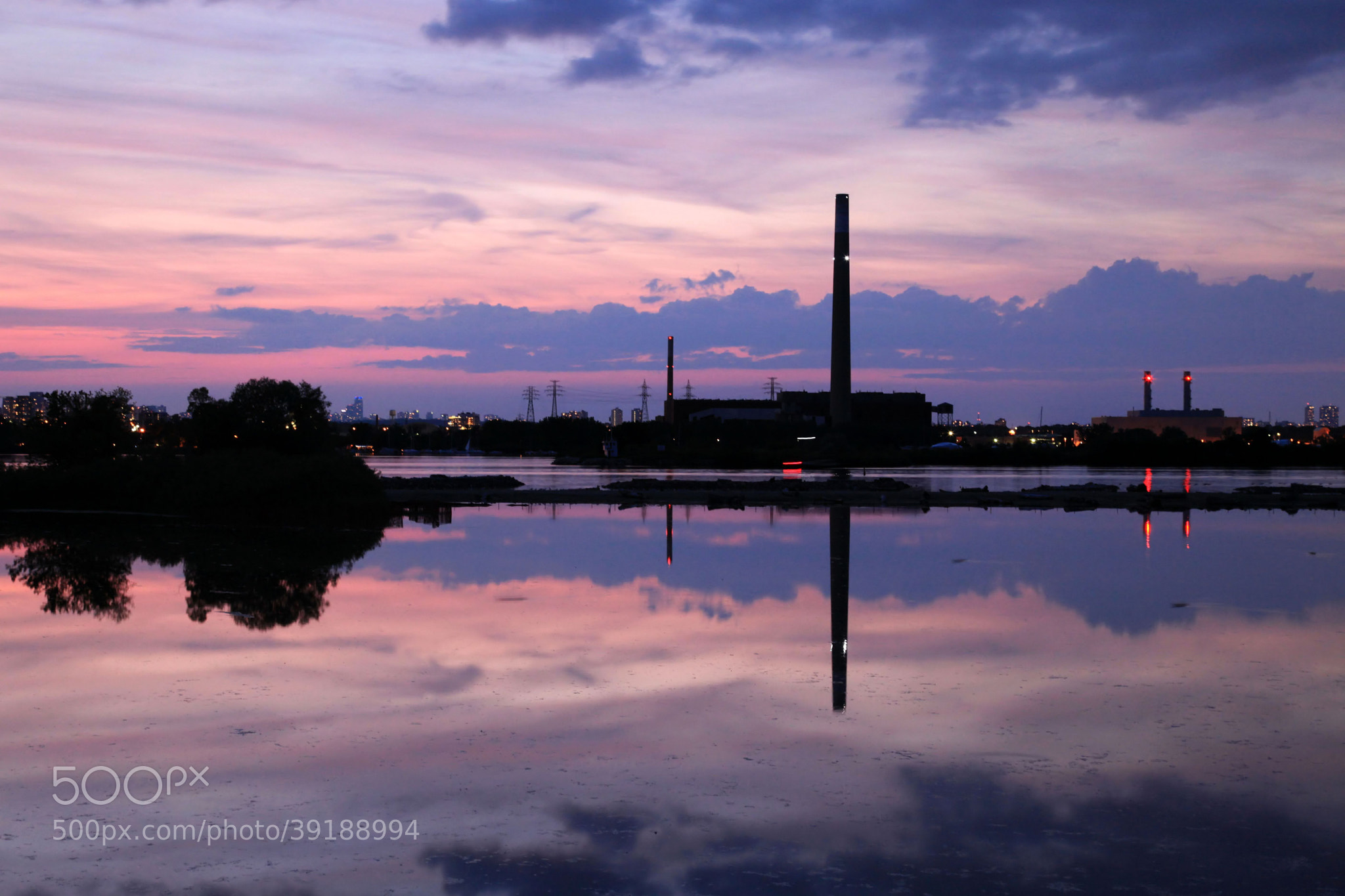 Photograph Industrial Sunset by Larry Herscovitch on 500px