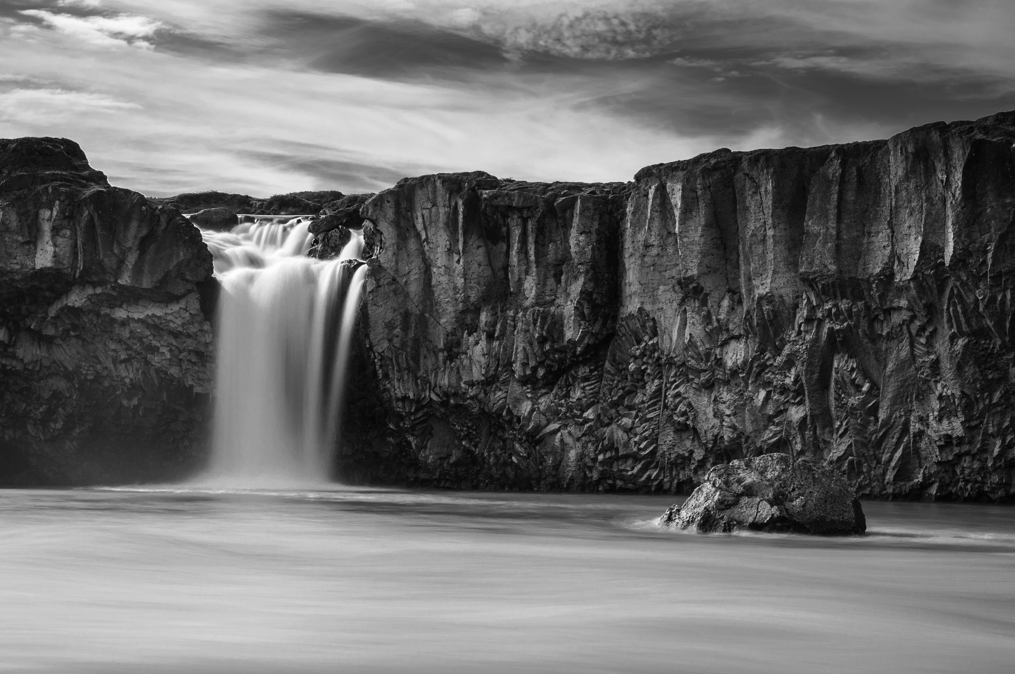 Photograph Godafoss in black&white by Milan Tesar on 500px