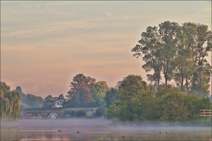 Photograph Wallingford Bridge, Autumn Sunrise by Andrew Barrow LRPS on 500px
