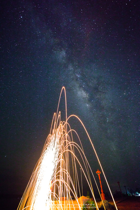 Photograph Awesome Milky Way and Steel Wool! by Mardy Suong Photography on 500px