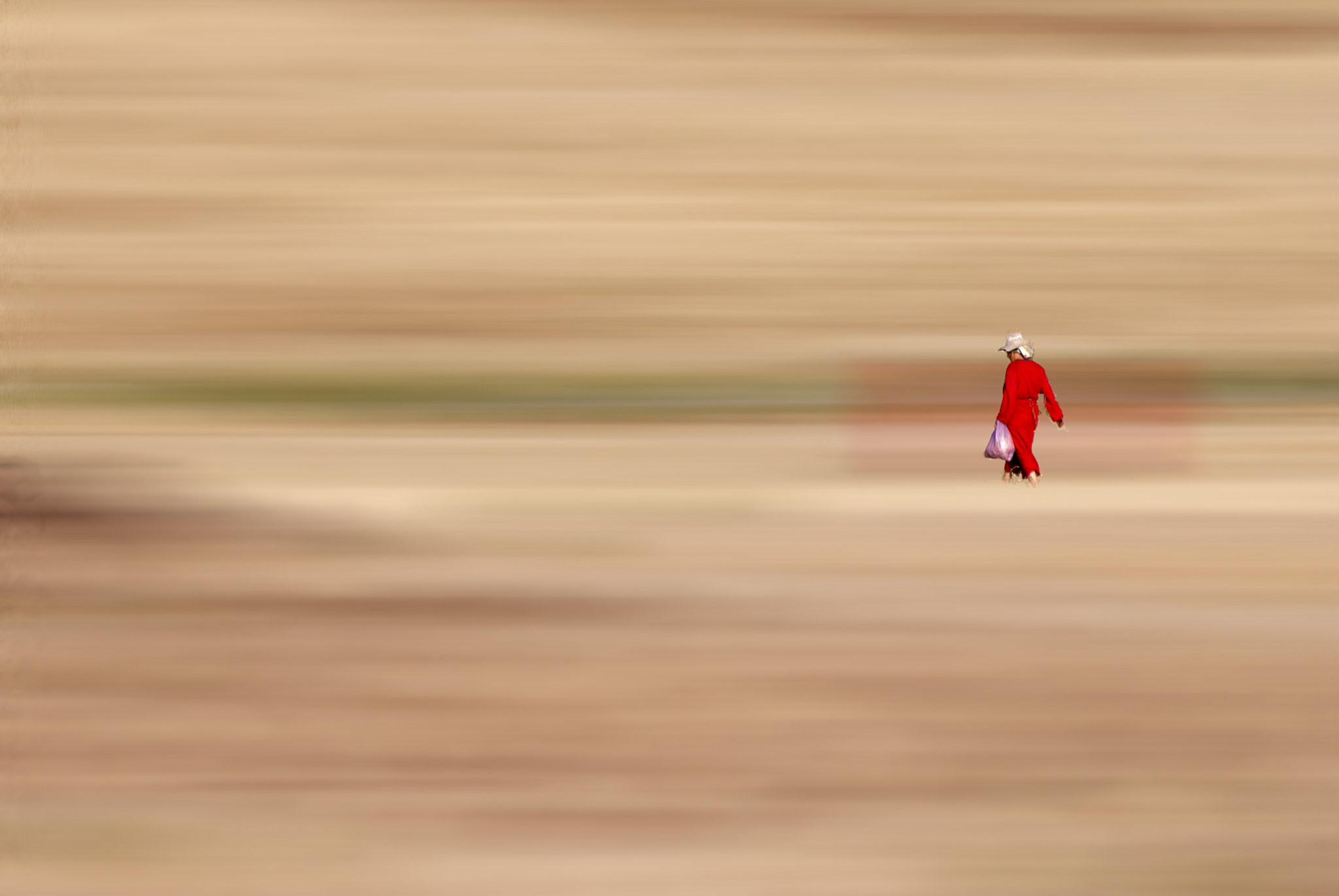 Photograph woman in red by Jamal Ouguimi on 500px
