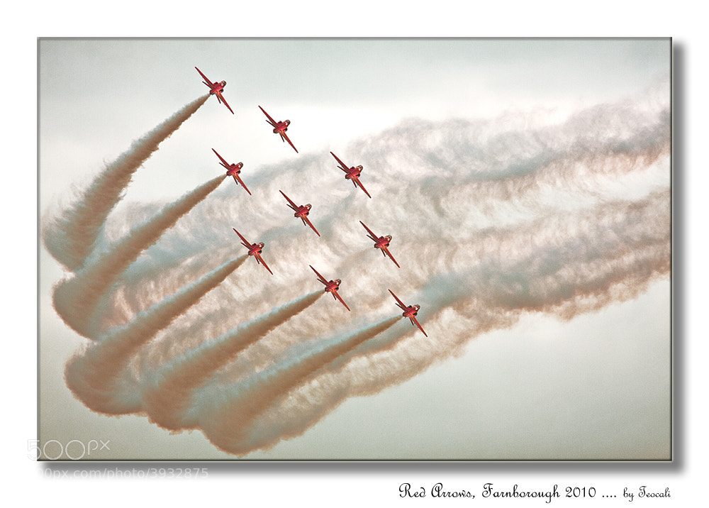 Photograph Red Arrows by Sylvia Fresson on 500px
