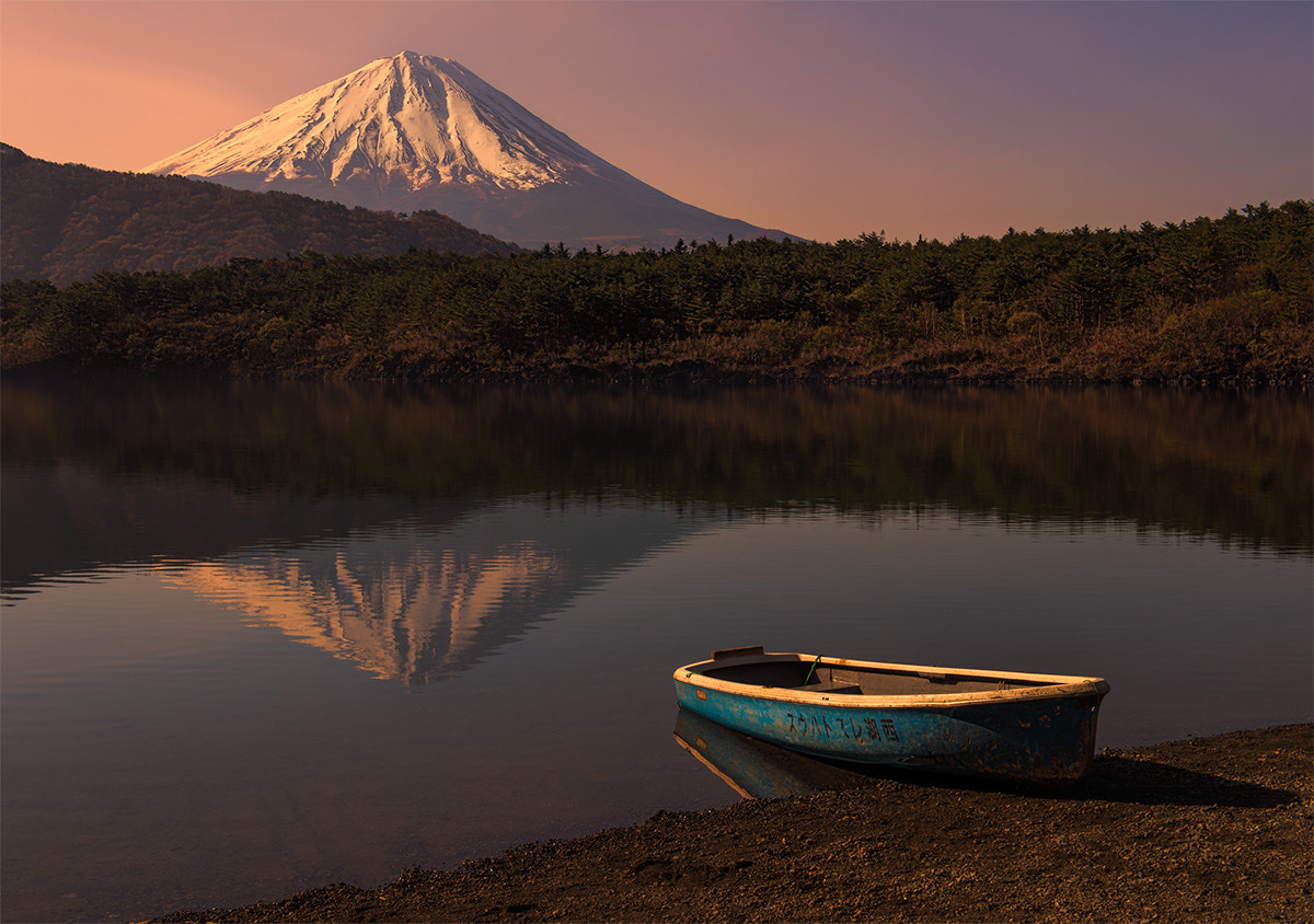 Photograph Mt. Fuji Reflecting in Lake Saiko by Natasha Pnini on 500px