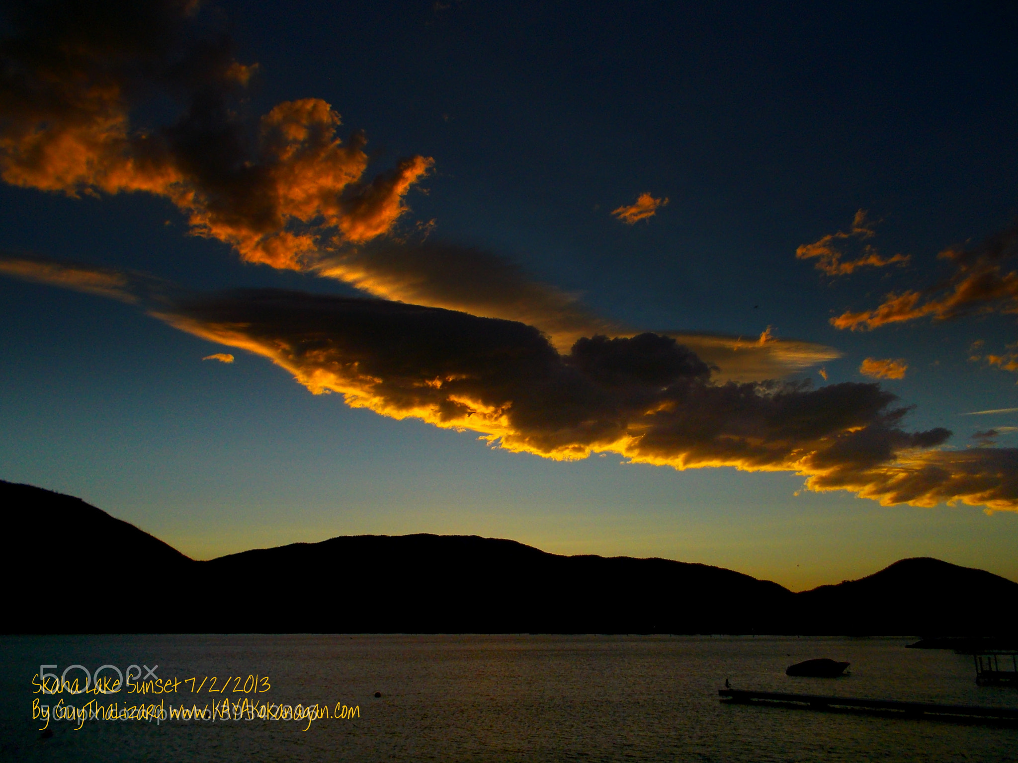 Photograph Skaha Lake Sunset 7/2/2013 #12 by Guy Hoffman on 500px