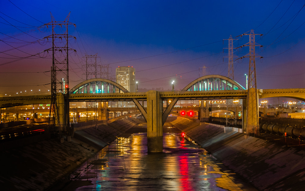 Photograph Night Falls on LA by Keith Custis on 500px