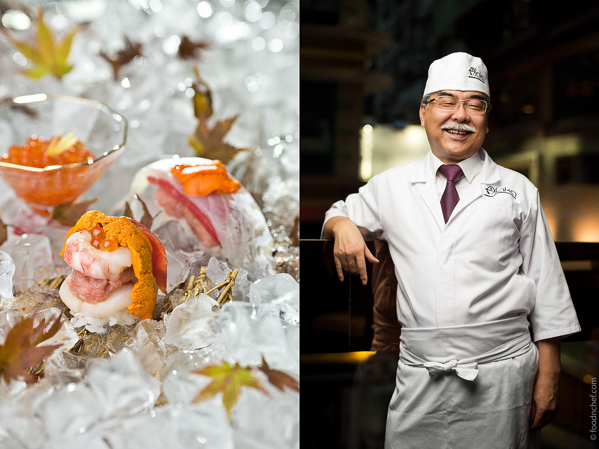 Photograph Mr. Sato Taisuke. Chef of AKA彤 Japanese Cuisine & Lounge by Food & Chef International Project  on 500px