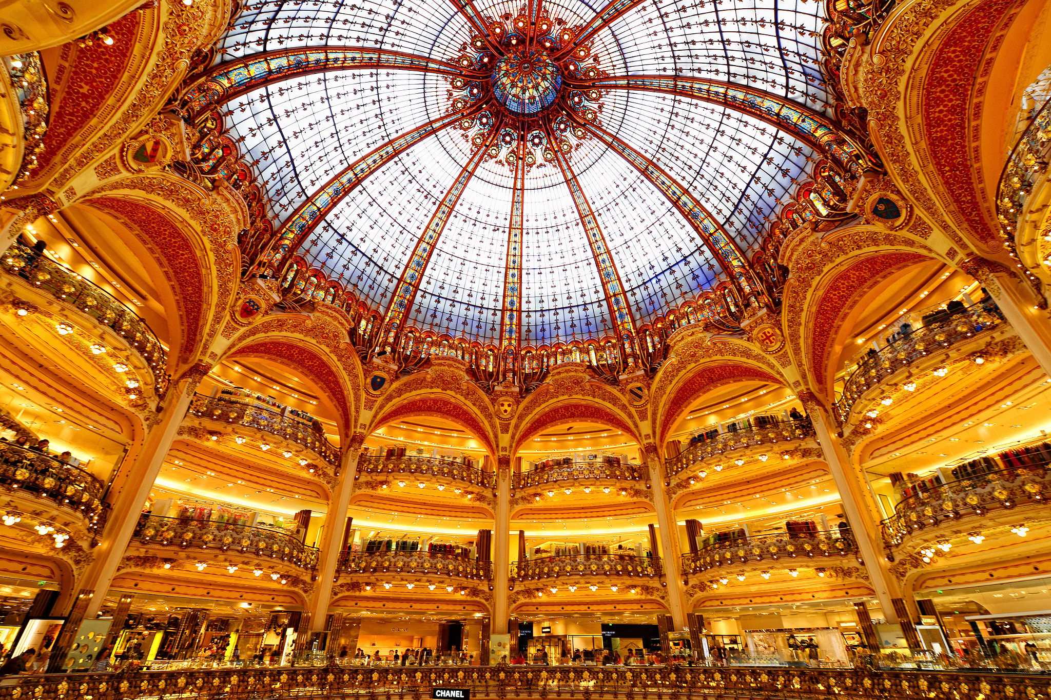 Photograph Galeries Lafayette--Paris by Cris T on 500px