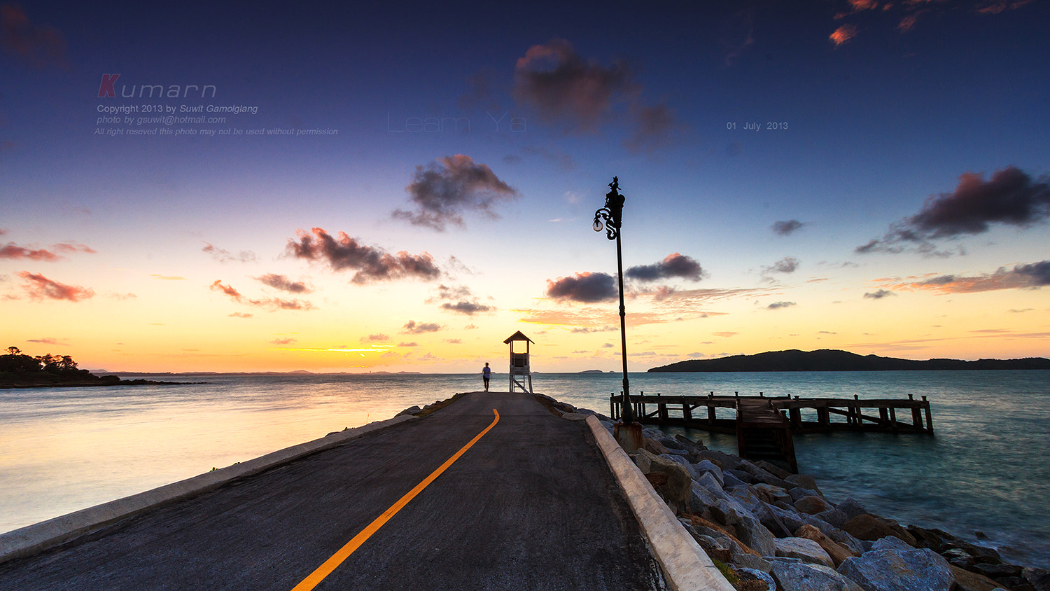 Photograph sunrise on end road by Suwit Gamolglang on 500px