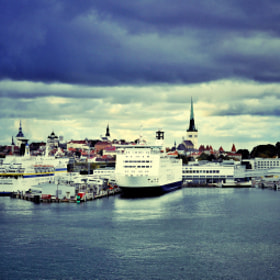 Tallinn Harbor and Old City by ilya khamushkin (dobrych) on 500px.com