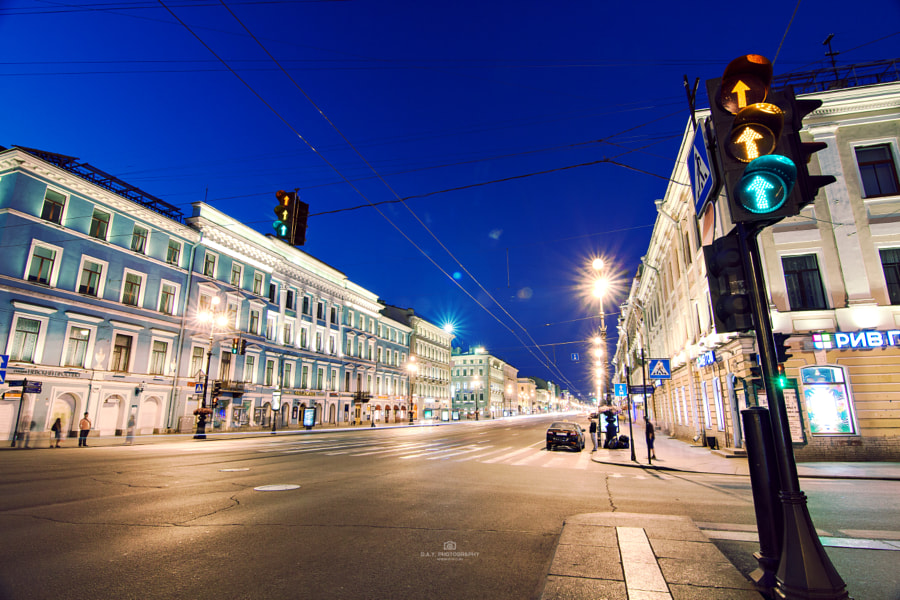 Nevsky Avenue at Night
