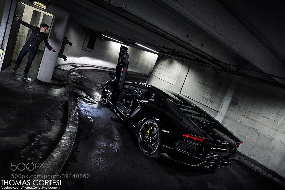 Photograph Lamborghini Aventador - Black Bull by Thomas Cortesi on 500px