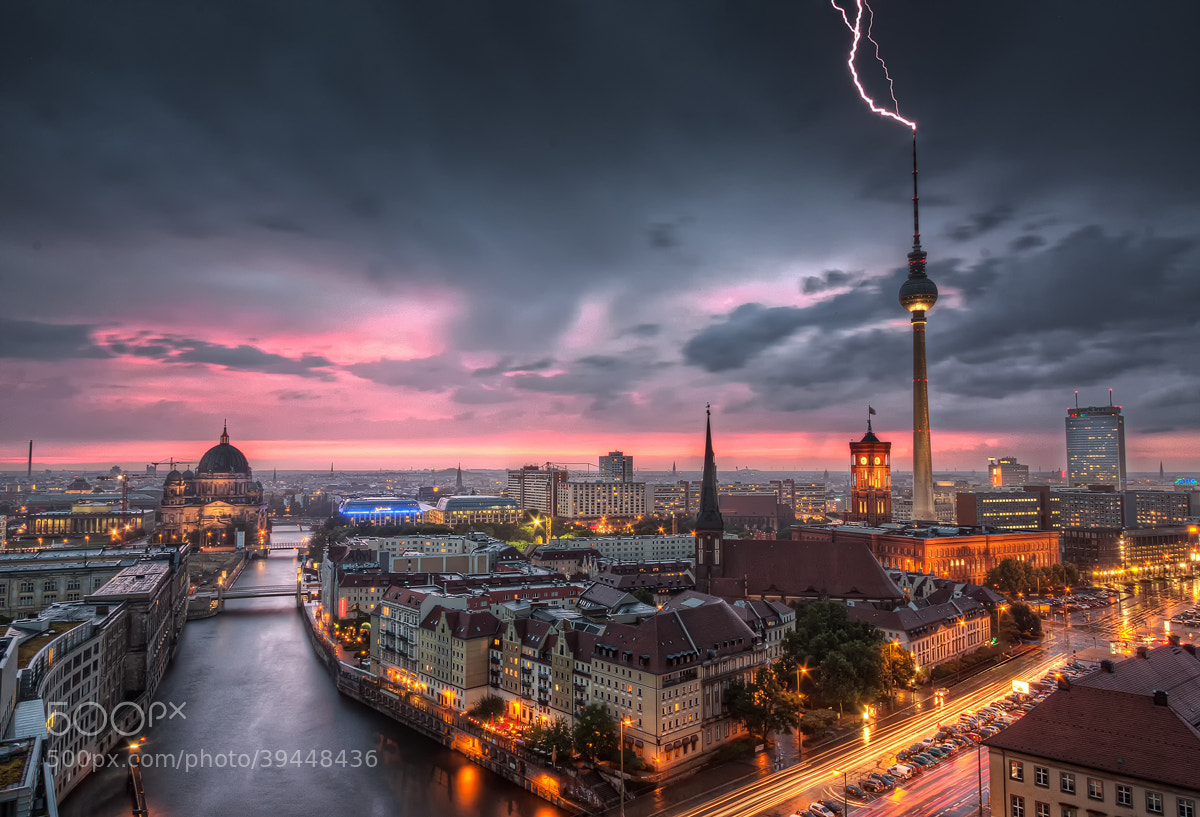Photograph Thunderstorm at Alexanderplatz | Berlin, Germany by Nico Trinkhaus on 500px