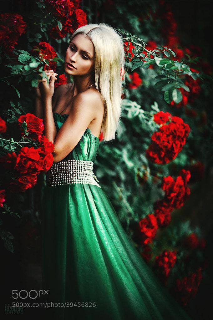 Chup anh gia dinh voi hoa do