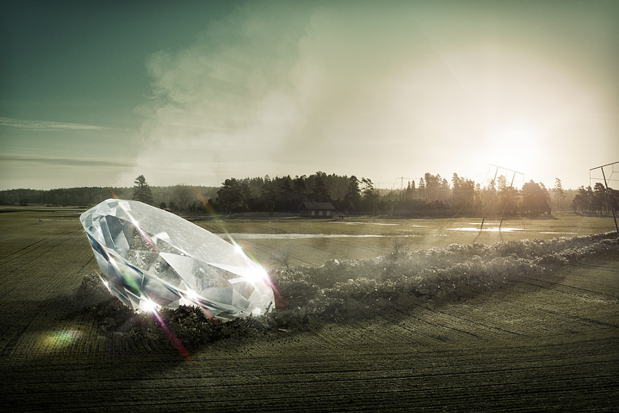 Diamond crash by Erik Johansson on 500px.com