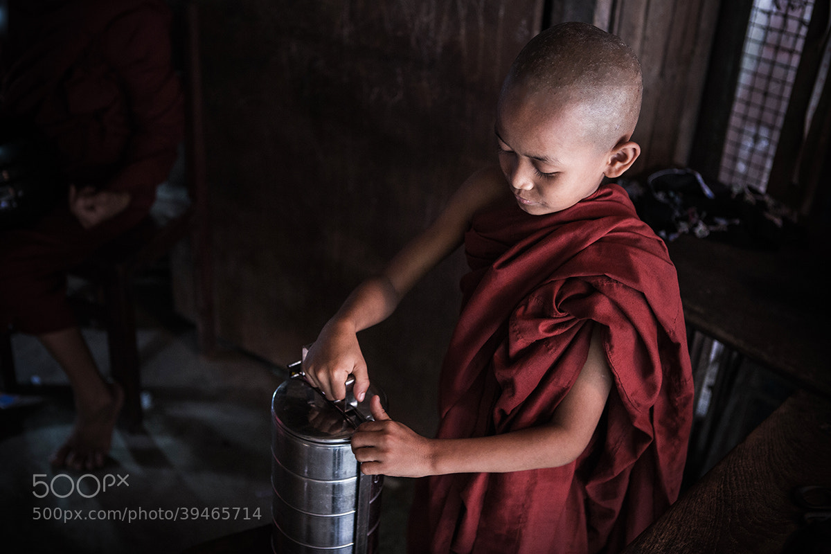 Photograph Getting the first alms by Philippe CAP on 500px