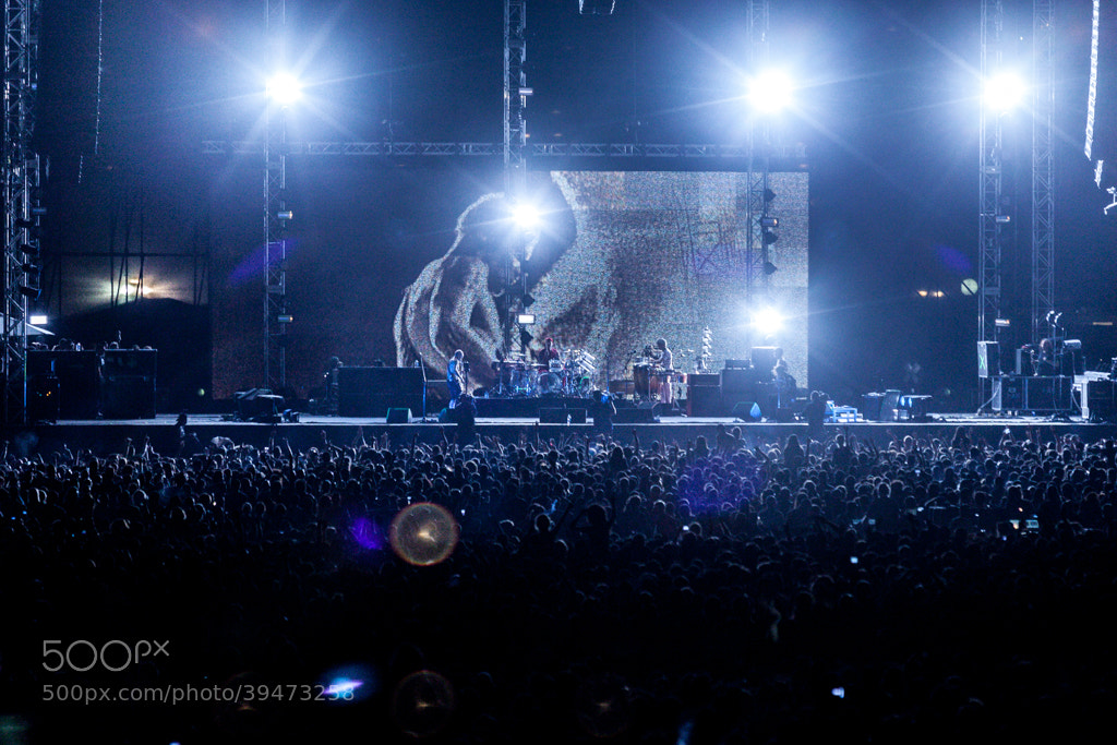 Photograph Red Hot Chili Peppers & The Crowd by Guy Prives on 500px