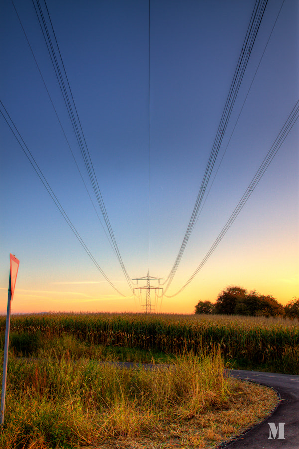 Photograph power line by Matthias Schulte on 500px