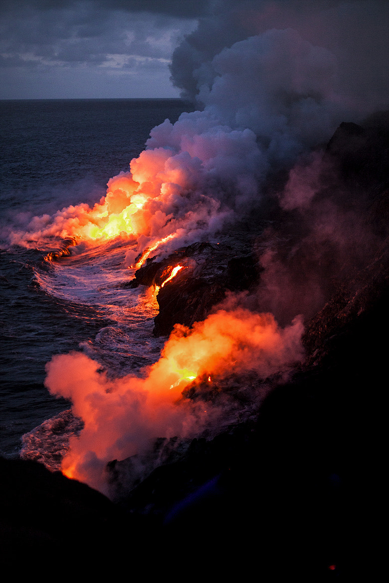 Photograph Lava Flow into the Ocean by MG Moscatello on 500px
