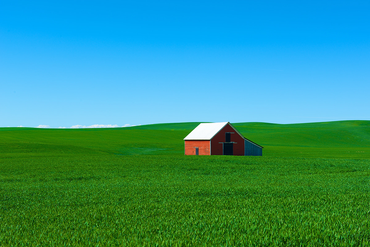 Photograph Red Barn on the Palouse by David Kosmos Smith on 500px