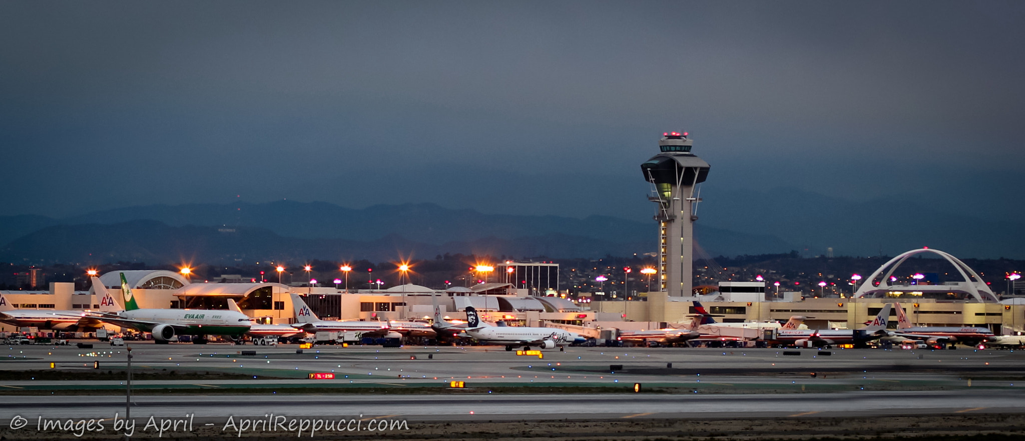 Photograph LAX at Dusk by April Reppucci on 500px
