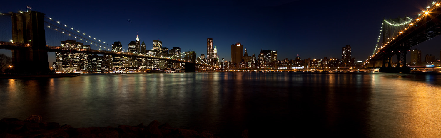 Photograph Manhattan Moonrise by Jeff Nielsen on 500px