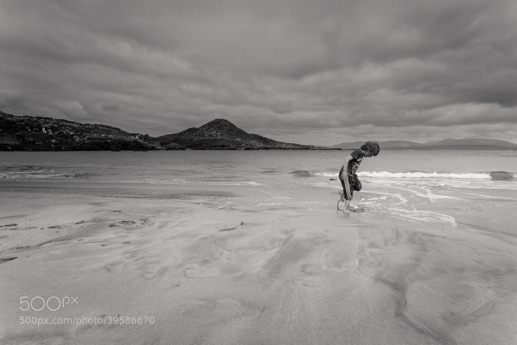 Photograph Boy on Beach by Stephen Holmes on 500px