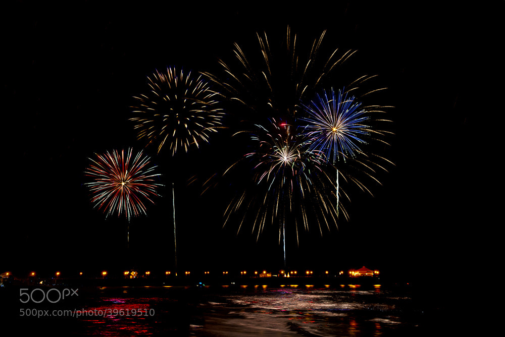 Photograph Huntington Beach Pier 4th of July by Peter Dang on 500px