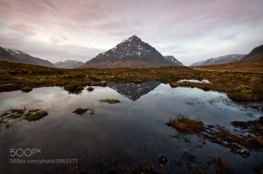 Photograph Early Light on Rannoch Moor... by David Mould on 500px