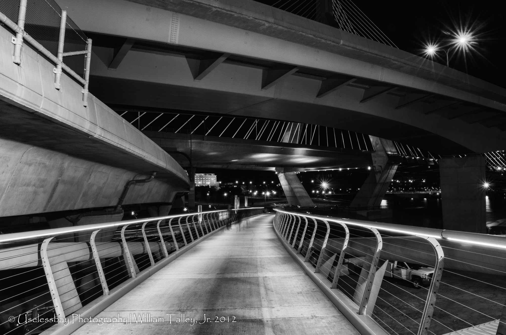 Photograph Zakim Bridge Abstract in BW by Bill Talley on 500px