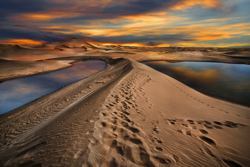 Photograph lake in desert by nader moslemi on 500px