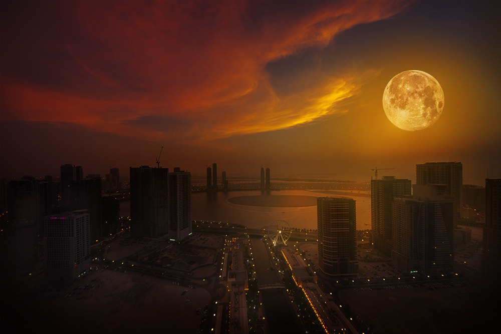Photograph Moonset by Morgan Arun on 500px