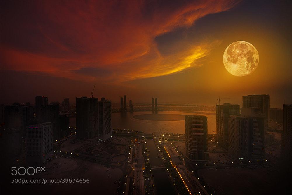 Photograph Moonset by MO AOUN PHOTO on 500px