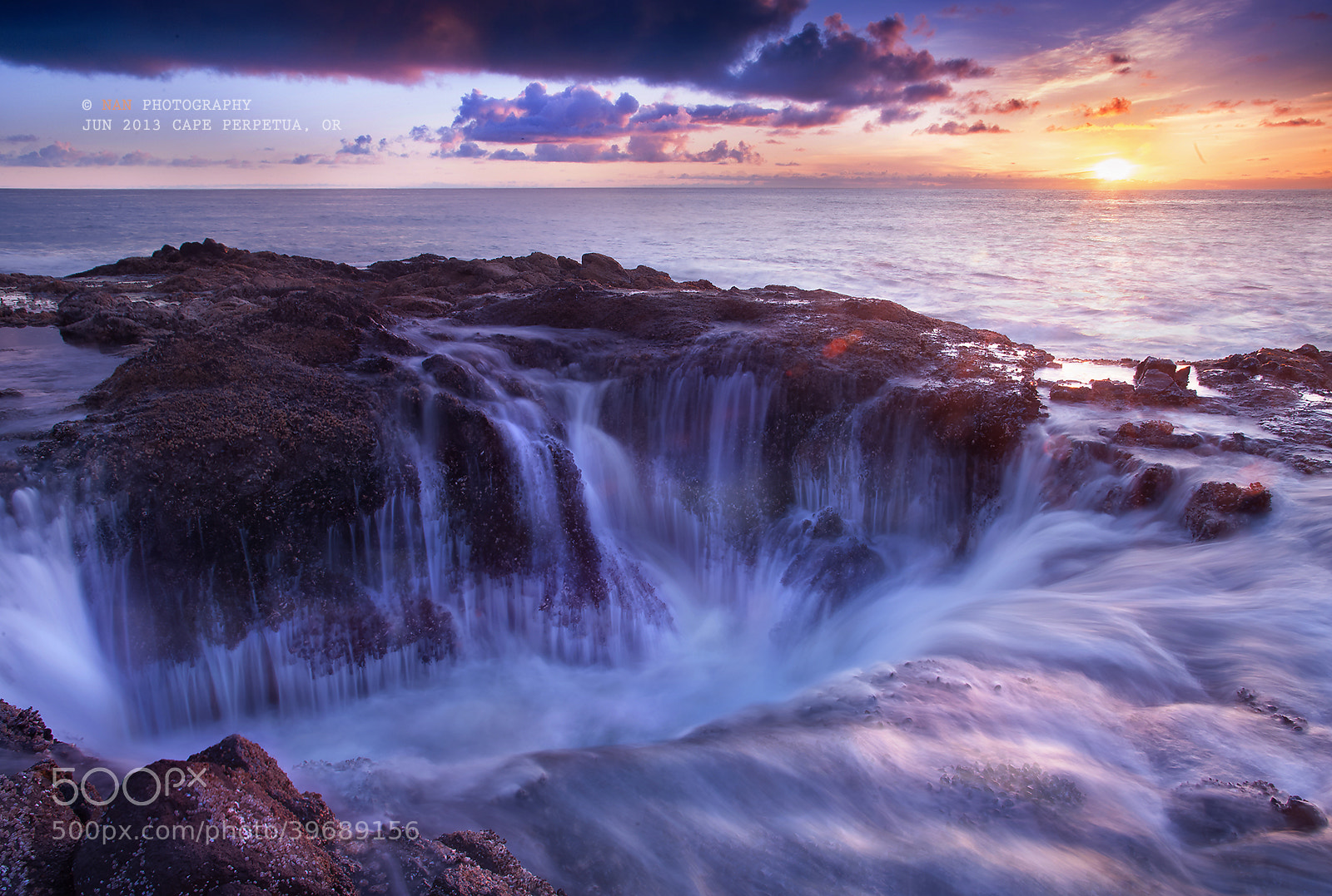 Photograph Sunset Thor's Well by Nan Zhong on 500px