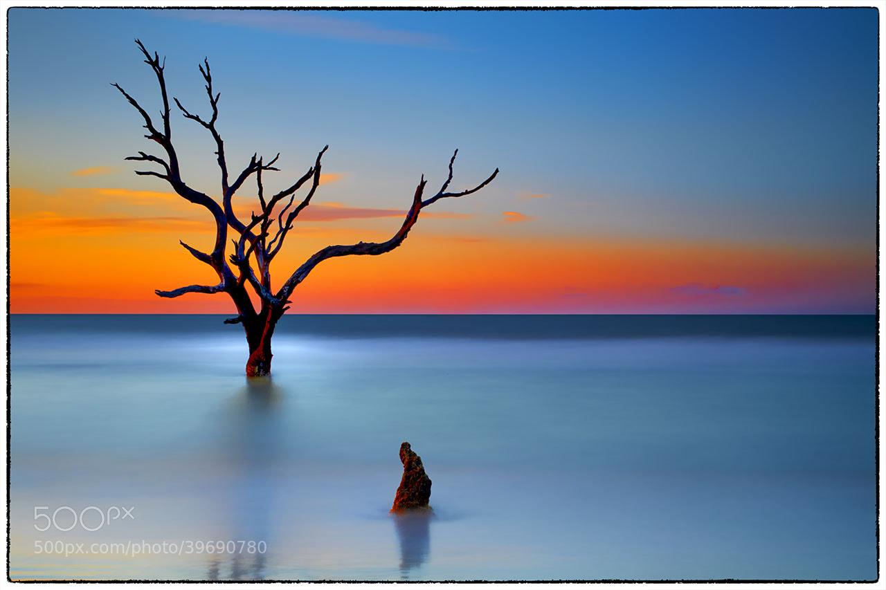 Photograph Cape Romaine Sunrise, 200 seconds by James Hilliard on 500px