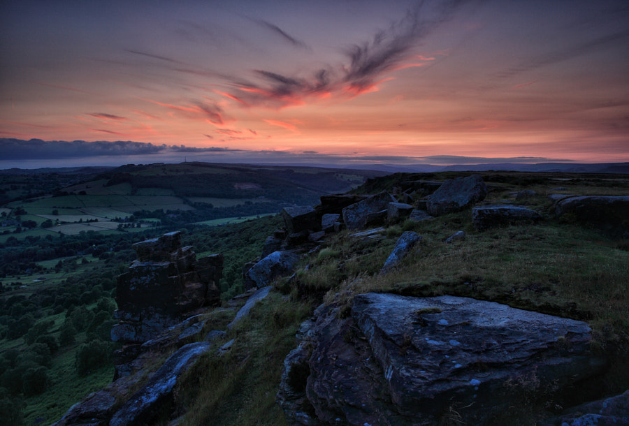 Curbar Edge Afterglow