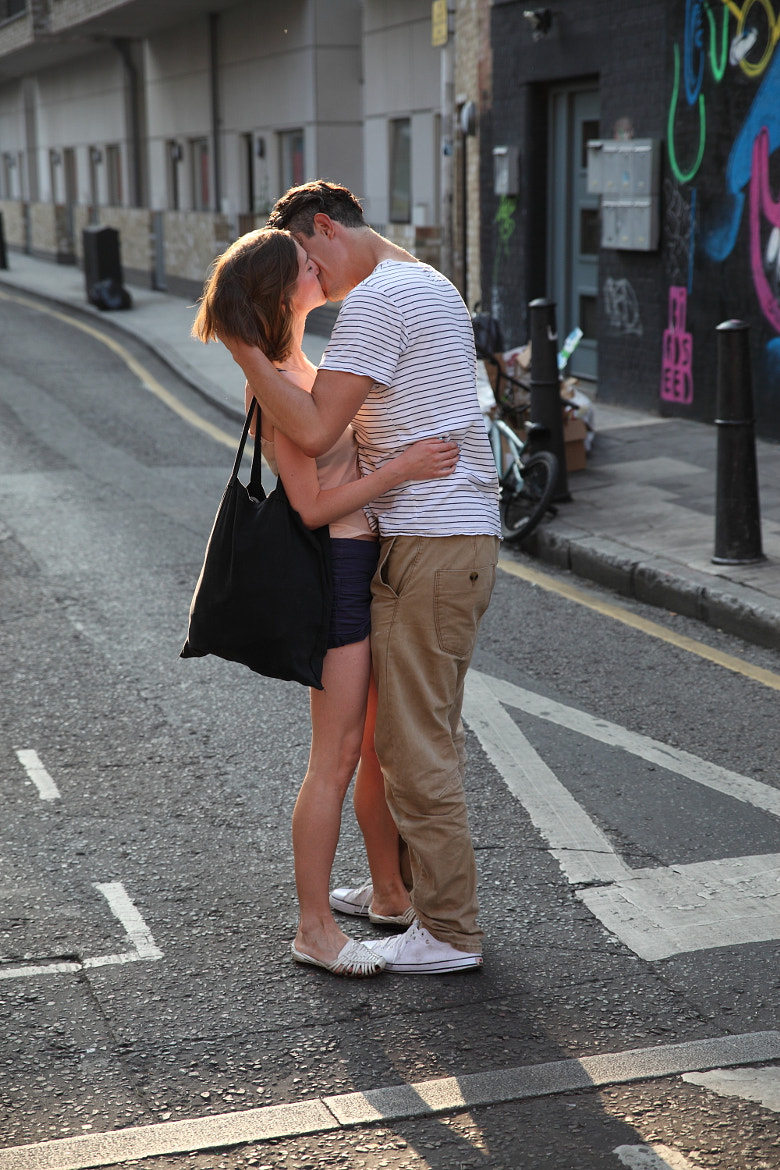 Photograph The Lovers Embrace, Brick Lane by Justin Sneddon on 500px