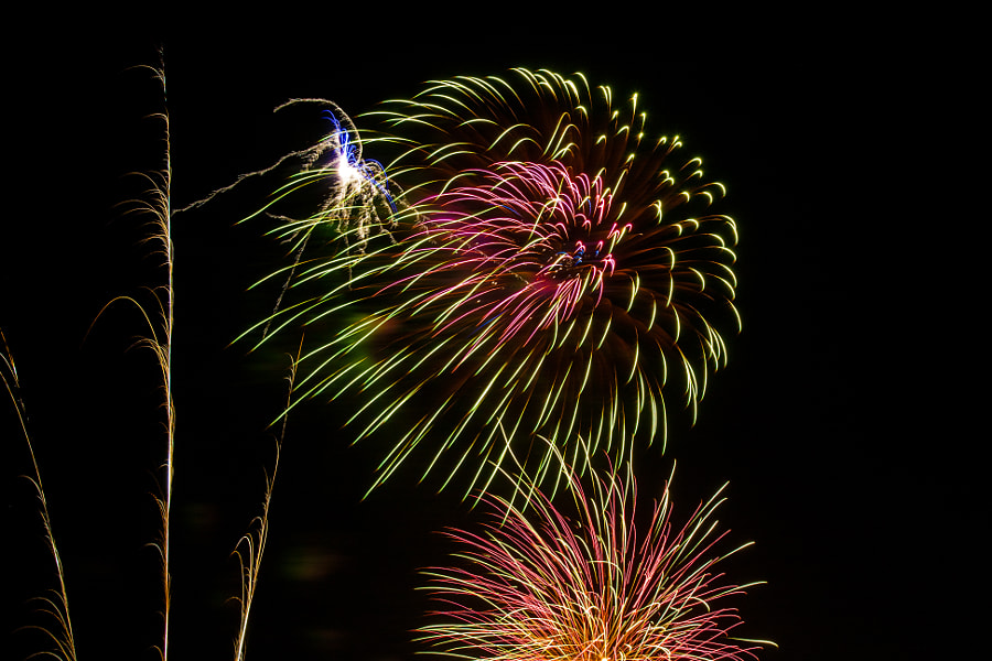 Fireworks on Territory Day