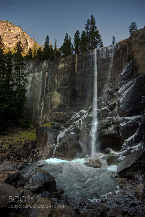 Vernal Falls in Yosemite National Park doesn't have quite as much power in winter, but with more than a 300 foot drop, it is still quite impressive.