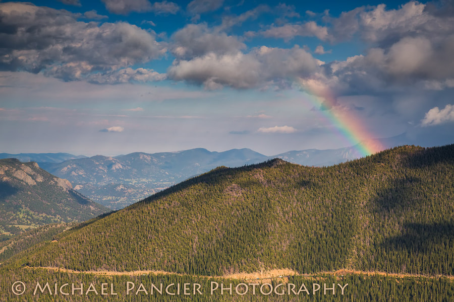 Rainbow along the Trail Ridge Road in Rocky Mountain National Park, Estes Park, Colorado
