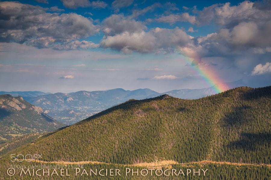 Rainbow along the Trail Ridge Road in Rocky Mountain National Park, Estes Park, Colorado