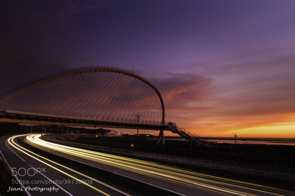 Photograph Burning Sky with Harp Bridge by Jean Li on 500px