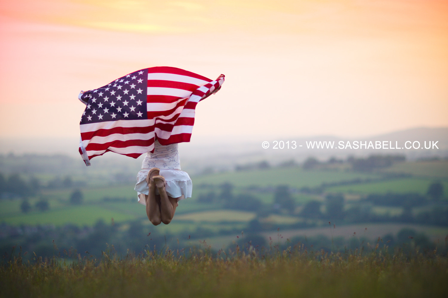Photograph Jumping with the US Flag by Sasha L'Estrange-Bell on 500px